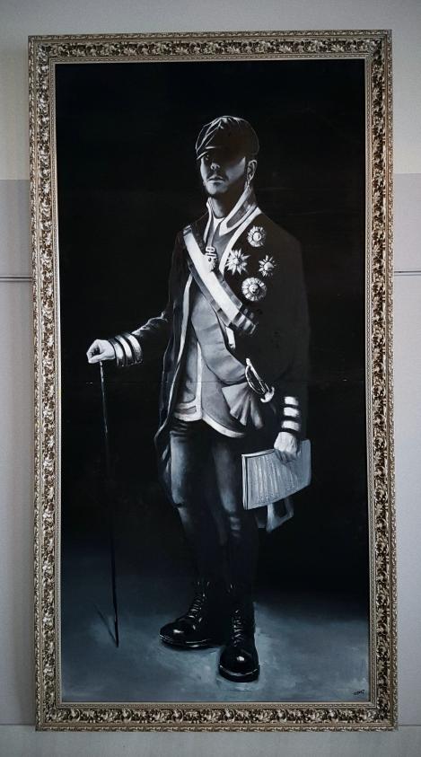 Autorretrato en uniforme de la guardia de Corps. óleo sobre tabla (Óleo original de: Francisco de Goya, Carlos IV de España)